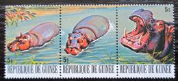 Poštovní známky Guinea 1977 Hroch obojživelný Mi# 808-10 Kat 4.80€