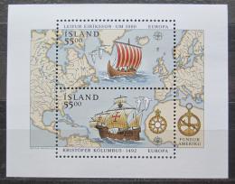Poštovní známky Island 1992 Evropa CEPT, objevení Ameriky Mi# Block 13 Kat 10€