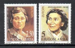 Poštovní známky Jugoslávie 1996 Evropa CEPT, slavné ženy Mi# 2777-78 Kat 4€