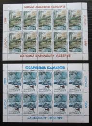 Poštovní známky Gruzie 1999 Evropa CEPT, národní parky Mi# 312-13 Bogen Kat 42€