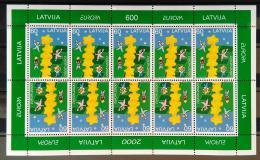 Poštovní známky Lotyšsko 2000 Evropa CEPT Mi# 519 Bogen Kat 38€