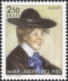 Poštovní známka Estonsko 1996 Evropa CEPT, Marie Under Mi# 279