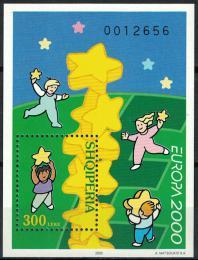 Poštovní známka Albánie 2000 Evropa CEPT Mi# Block 123 Kat 9€