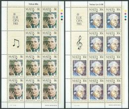 Poštovní známky Malta 1985 Evropa CEPT, skladatelé Mi# 726-27 Bogen Kat 25€
