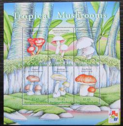 Poštovní známky Antigua 2001 Houby Mi# 3421-26 Kat 10€