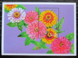 Poštovní známka Antigua 1999 Kvìtiny Mi# Block 423