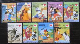 Poštovní známky Dominika 1997 Disney postavièky Mi# 2284-91 Kat 12€