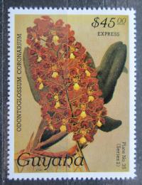 Poštovní známka Guyana 1987 Orchidej RARITA Mi# 1929 Kat 28€