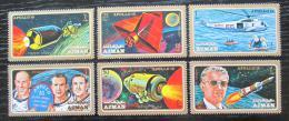 Poštovní známky Adžmán 1971 Let na Mìsíc, Apollo 15 Mi# 862-67