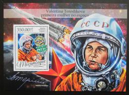 Poštovní známka Mosambik 2016 Valentina Tìreškovová Mi# Block 1183 Kat 20€