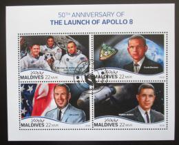 Poštovní známky Maledivy 2018 Let na Mìsíc, Apollo 8 Mi# 7753-56 Kat 11€