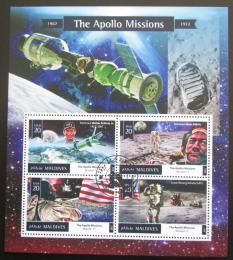 Poštovní známky Maledivy 2015 Lety na Mìsíc, Mise Apollo Mi# 5860-63 Kat 11€