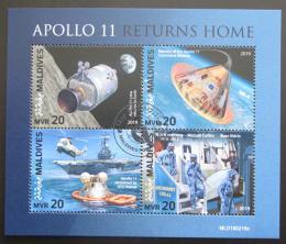Poštovní známky Maledivy 2019 Let na Mìsíc, Apollo 11 Mi# 8259-62 Kat 10€
