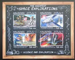 Poštovní známky Maledivy 2017 Prùzkum vesmíru Mi# 7083-86 Kat 10€
