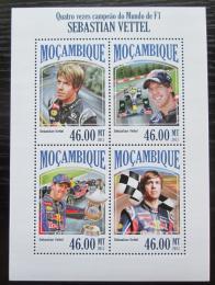 Poštovní známky Mosambik 2013 Formule 1, Sebastian Vettel Mi# 7062-65 Kat 11€