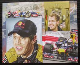 Poštovní známka Svatý Tomáš 2013 Formule 1, Sebastian Vettel Mi# Block 870 Kat 10€