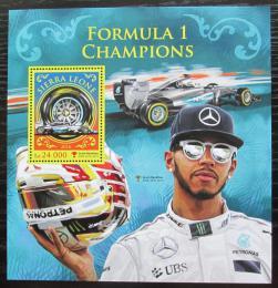 Poštovní známka Sierra Leone 2016 Formule 1, Lewis Hamilton Mi# Block 1056 Kat 11€