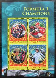 Poštovní známky Sierra Leone 2016 Formule 1, slavní jezdci Mi# 7618-21 Kat 11€