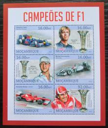 Poštovní známky Mosambik 2013 Formule 1, slavní jezdci Mi# 6546-51 Kat 10€