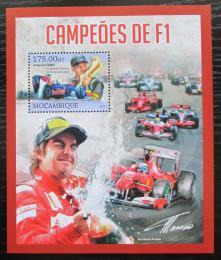 Poštovní známka Mosambik 2013 Formule 1, slavní jezdci Mi# Block 754 Kat 10€