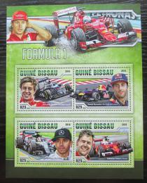 Poštovní známky Guinea-Bissau 2016 Formule 1 Mi# 8757-60 Kat 12.50€