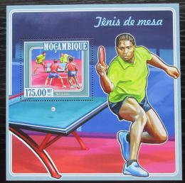 Poštovní známka Mosambik 2015 Stolní tenis Mi# Block 981 Kat 10€