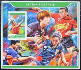 Poštovní známka Togo 2017 Stolní tenis Mi# Block 1440 Kat 13€