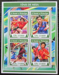 Poštovní známky Svatý Tomáš 2017 Stolní tenis Mi# 7284-87 Kat 12€