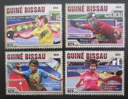 Poštovní známky Guinea-Bissau 2016 Stolní tenis Mi# 8771-74 Kat 12.50€