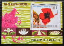 Poštovní známka Rovníková Guinea 1979 Asijské kvìtiny Mi# Block 310
