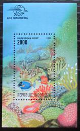 Poštovní známka Indonésie 1997 Moøská fauna Mi# Block 122