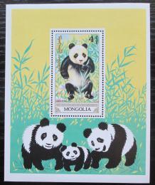 Poštovní známka Mongolsko 1990 Panda velká Mi# Block 152