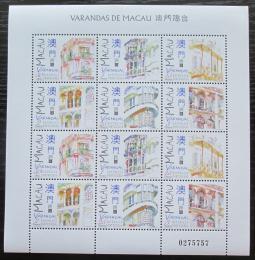 Poštovní známky Macao 1997 Verandy Mi# 925-30 Bogen Kat 10€