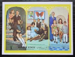 Poštovní známka Adžmán 1972 Kosmonaut Irwin s rodinou Mi# Block 359 Kat 6€