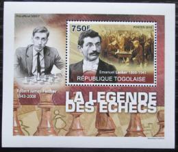 Poštovní známka Togo 2010 Svìtoví šachisti DELUXE Mi# 3629 Block