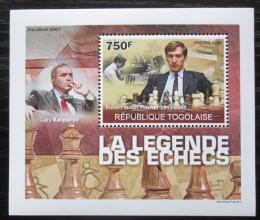 Poštovní známka Togo 2010 Svìtoví šachisti DELUXE Mi# 3630 Block
