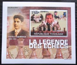 Poštovní známka Togo 2010 Svìtoví šachisti DELUXE Mi# 3631 Block