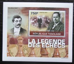 Poštovní známka Togo 2010 Svìtoví šachisti DELUXE Mi# 3632 Block