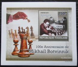 Poštovní známka Togo 2011 Michail Botvinnik, šachy DELUXE Mi# 3916 Block