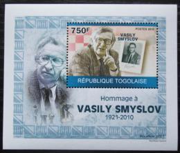 Poštovní známka Togo 2010 Vasilij Smyslov, šachy DELUXE Mi# 3536 Block