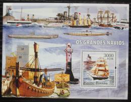 Poštovní známka Guinea-Bissau 2006 Lodì a majáky Mi# Block 552 Kat 12€