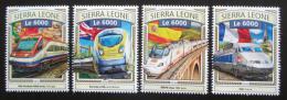 Poštovní známky Sierra Leone 2016 Moderní evropské lokomotivy Mi# 7868-71 Kat 11€
