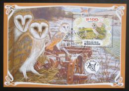 Poštovní známka Gabon 2019 Sovy Mi# N/N