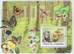 Poštovní známka Komory 2009 Houby a Petter Adolf Karsten Mi# Block 465 Kat 15€