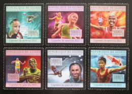Poštovní známky Guinea 2012 Gymnastika a atletika Mi# 9627-32 Kat 18€