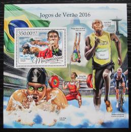 Poštovní známka Mosambik 2016 LOH Rio de Janeiro Mi# Block 1213 Kat 20€