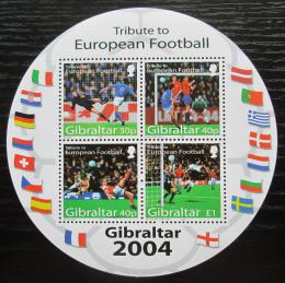 Poštovní známky Gibraltar 2004 ME ve fotbale Mi# Block 61 Kat 7.50€