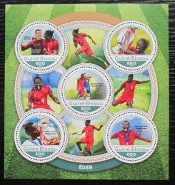 Poštovní známky Guinea-Bissau 2016 Éder, portugalský fotbalista Mi# 8841-45 Kat 11€