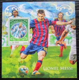 Poštovní známka Sierra Leone 2016 Lionel Messi, fotbalista Mi# Block 1074 Kat 12€