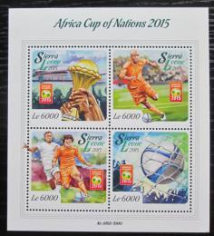 Poštovní známky Sierra Leone 2015 Africký pohár ve fotbale Mi# 6768-71 Kat 11€